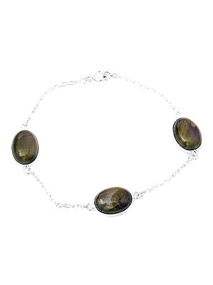 Oval Bracelet with Gems