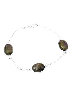 Oval Bracelet with Gems