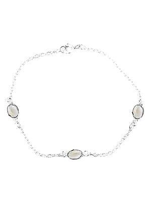 Faceted Green Amethyst Oval Bracelet