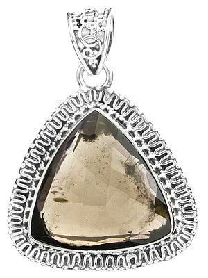 Faceted Triangle Pendant with Gems