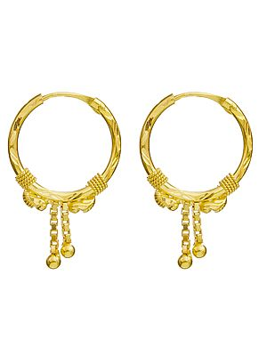 Hoop Earrings with Dangles