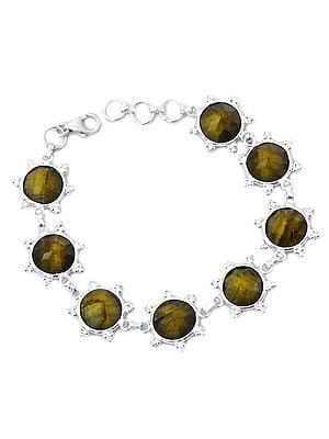 Faceted Tiger-Eye Bracelet