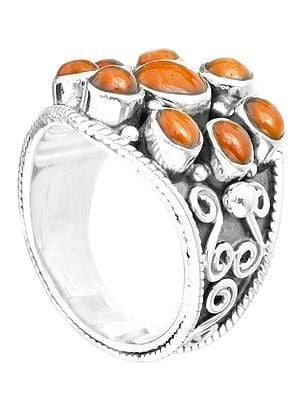 Blooming Flower Coral Ring