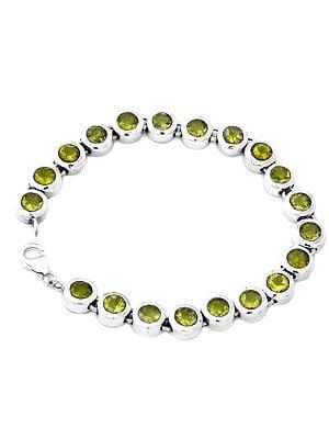 Faceted Gemstone Bracelet
