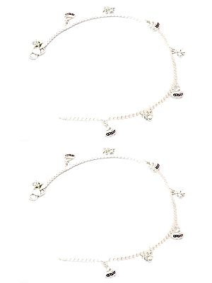 Anklets with Dangling Swan (Price Per Pair)