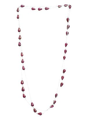 Ruby Drops Long Necklace
