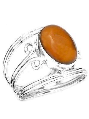 Carnelian Oval Ring