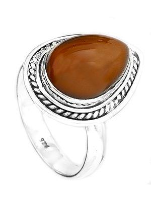 Carnelian Drop Ring