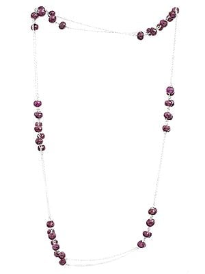 Ruby Rondells Long Necklace