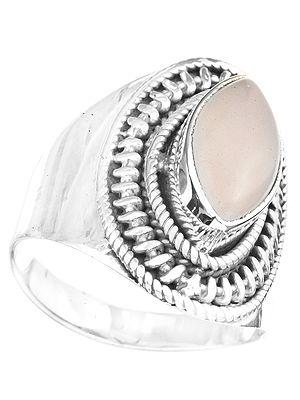 Rose Quartz Marquis Ring