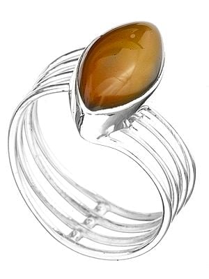 Four-Strand Carnelian Marquis Ring