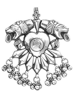Empress Victoria Pendant with Spitting Lions