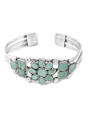 Turquoise Inlay Cuff Bracelet
