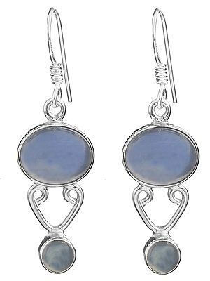 Twin Blue Chalcedony Earrings