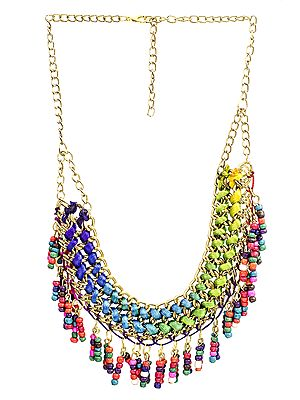 Necklace with Dangling Beads
