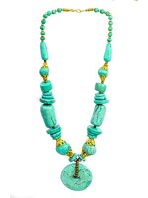 Ice-Green Beaded Necklace