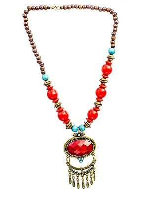 Scarlet Beaded Necklace