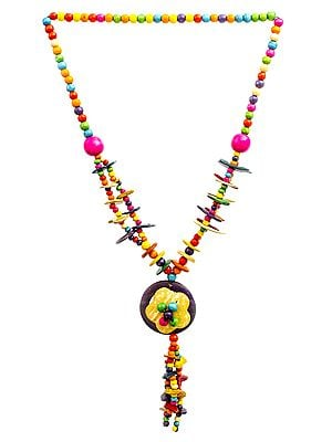 Multicolor Beaded Floral Necklace