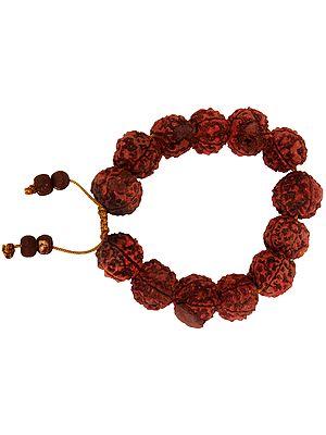 Rudraksha Cord Bracelet