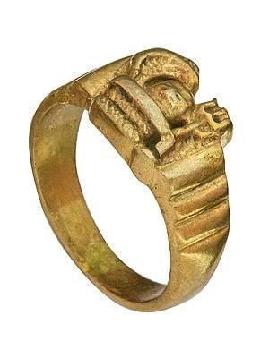 Shiva Linga Trident Ring
