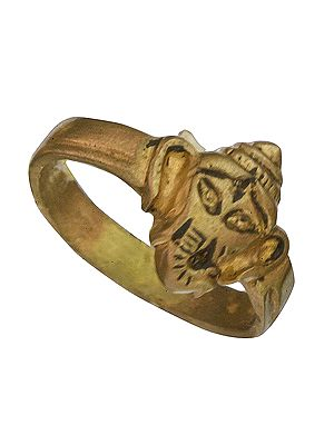 Ganesha Head Ring