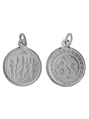 Shri Rama Durbar Pendant with OM on Reverse (Two Sided Pendant)