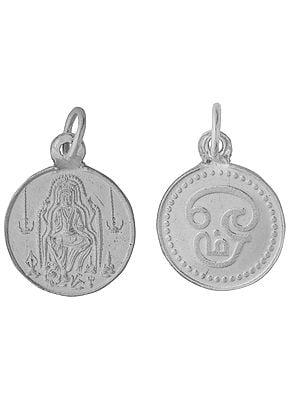Lord Dakshinamurti Shiva Pendant with Tamil OM on Reverse (Two Sided Pendant)