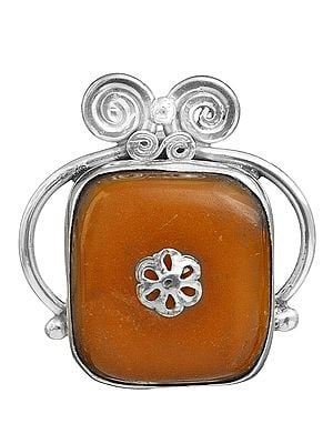Amber Crown Pendant