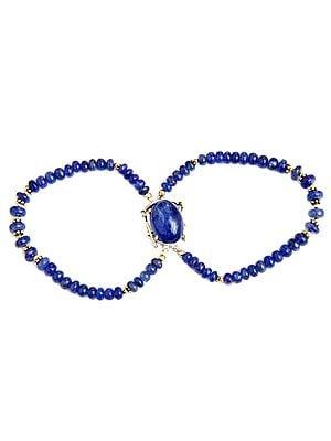 Tanzanite Two-Strand Beaded Bracelet