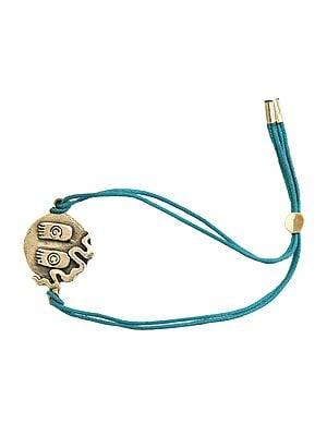Cord Bracelet with Auspicious Lotus Feet of Lord Vishnu