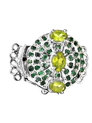 Faceted Peridot with Emerald Closure (Price Per Piece)