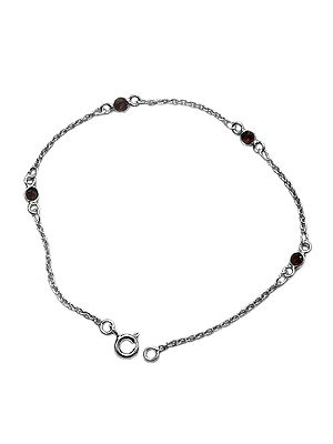 Faceted Garnet Chain Bracelet