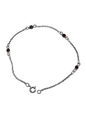 Faceted Garnet Chain Bracelet
