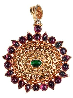 Double-Sided Filigree Pendant (South Indian Temple Jewelry)