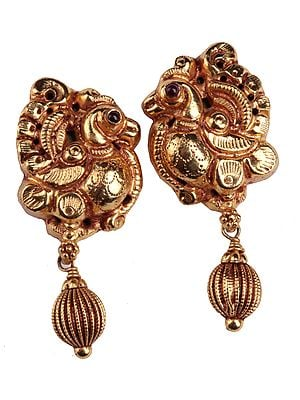 Peacock Earrings (South Indian Temple Jewelry)