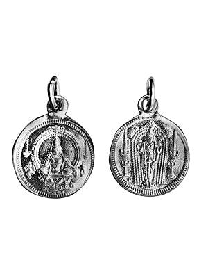 Ayyappan  Pendant with  Kuruvayurapar on Reverse (Two Sided Pendant)