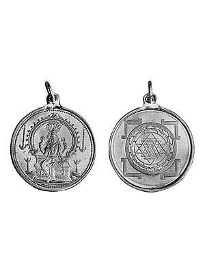 Karumariamman Pendant with Yantra on Reverse (Two Sided Pendant)