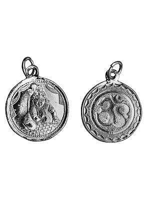 Baby Krishna Pendant with OM (AUM) on Reverse (Two Sided Pendant)