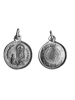 Adhiparasakthi Pendant with Yantra on Reverse (Two Sided Pendant)