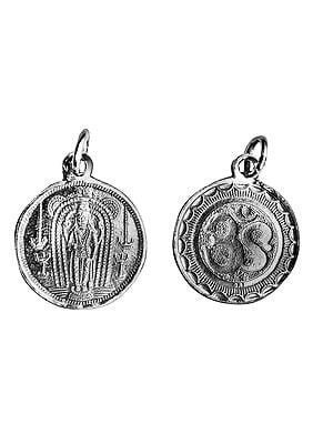 Perumal  Pendant with OM (AUM) on Reverse (Two Sided Pendant)