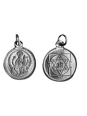 Hayagriva-Lakshmi Pendant with Yantra  on Reverse (Two Sided Pendant)