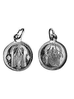 Perumal Pendant with Sri Perundevi Thayar on Reverse (Two Sided Pendant)