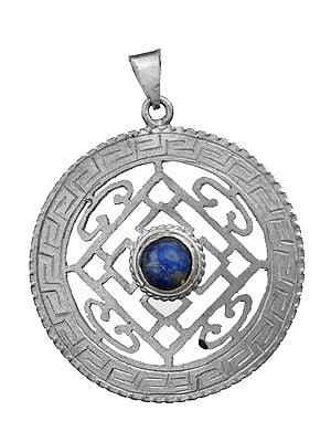 Mandala Pendant with Lapis Lazuli (Made in Nepal)