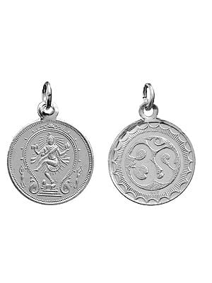 Nataraja Pendant with OM (AUM) on Reverse (Two Sided Pendant)