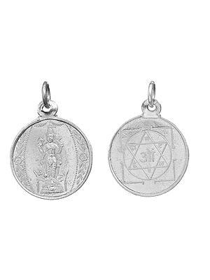 Sathya Narayanam (Vishnu) Pendant with Yantra Reverse (Two Sided Pendant)