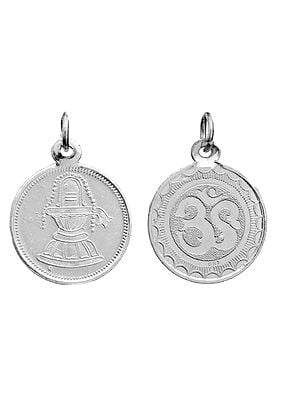 Shiivalingam Pendant with OM (AUM) on Reverse (Two Sided Pendant)