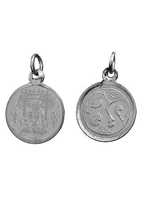 Raghavendra Swami Pendant with OM (AUM) on Reverse (Two Sided Pendant)