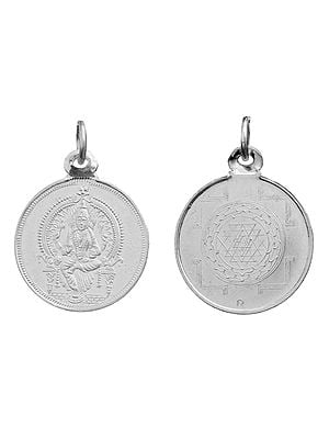 Mariamman Pendant with Yantra on Reverse (Two Sided Pendant)