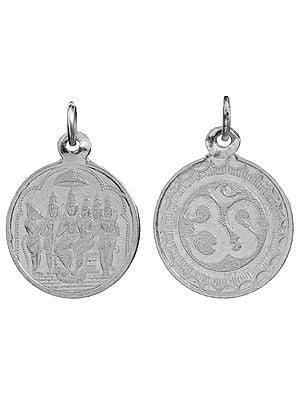 Shri Rama Pattabhishekam Pendant with OM (AUM) on Reverse (Two Sided Pendant)