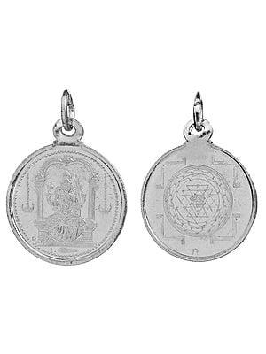 Goddess Kamakshi Pendant with Yantra on Reverse (Two Sided Pendant)